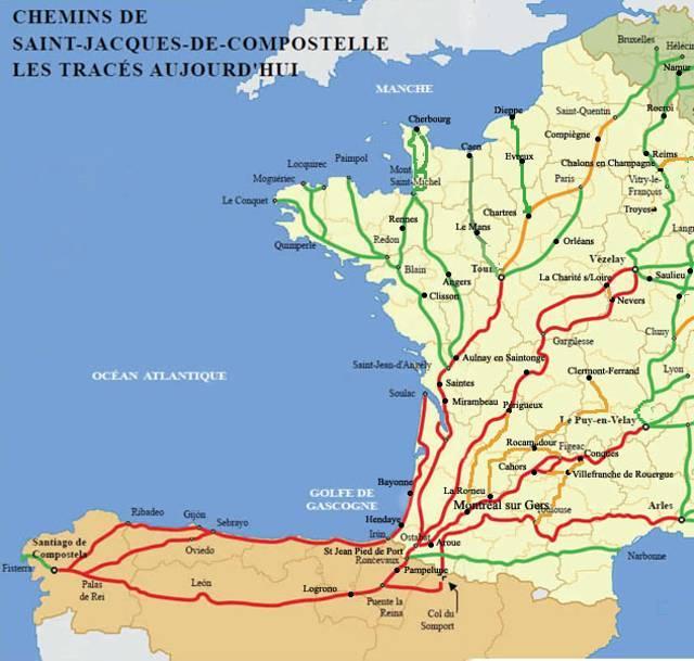 France itin raires compostelle - Distance st jean pied de port st jacques de compostelle ...