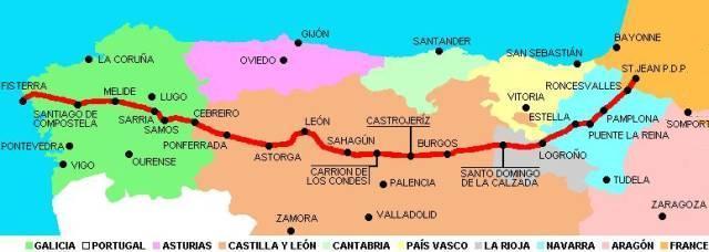Espagne espa a camino franc s santiago de compostela - Bus from pamplona to st jean pied de port ...