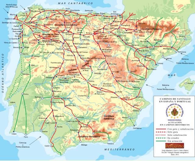Espagne Du Nord Carte | tonaartsenfotografie