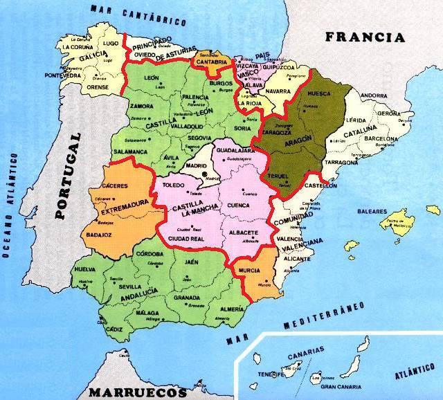 Carte Espagne Nord Est.Espagne Hors Camino Frances