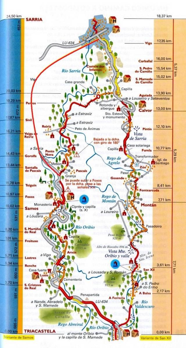 Camino Francs description 30 Triacastela Samos Sarria