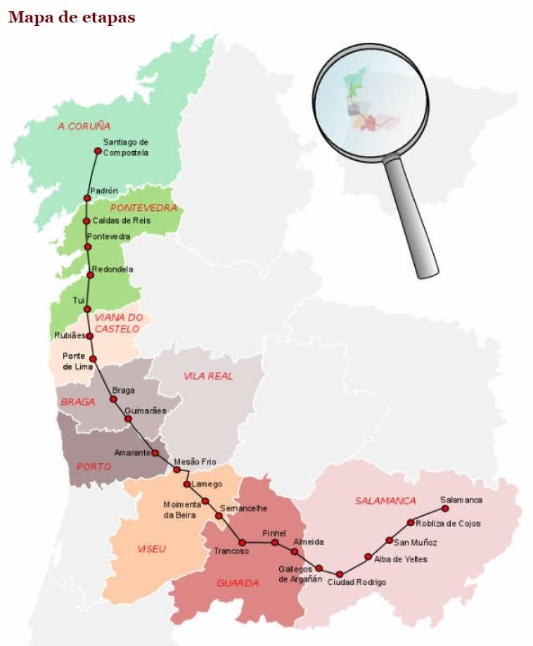 Caldas De Reis Mapa.Camino Torres Profils