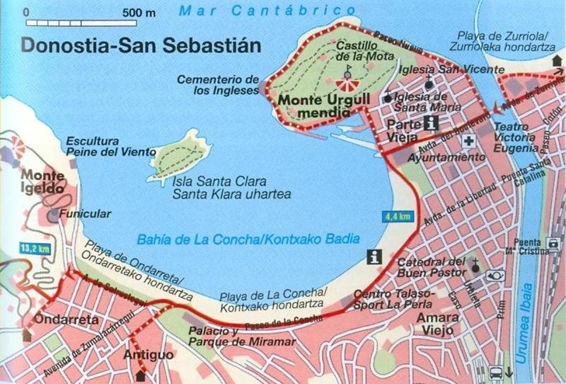 Hendaye / Irun - San Sebastian : carte