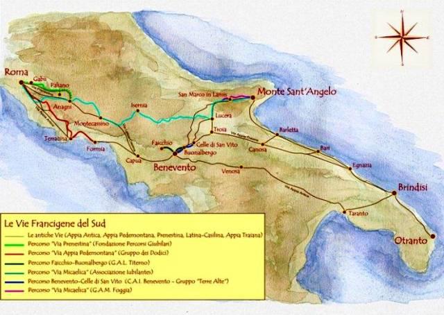 Via francigena del sud for Disegni di casa sud ovest