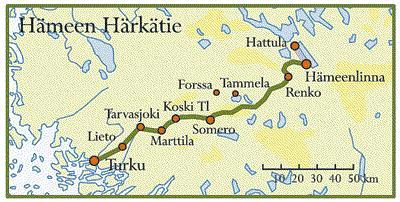 Hämeen Härkätie Kartta
